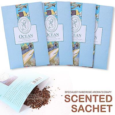 【超值4入】kiret 可掛式香氛 香包 香薰袋-海洋款-衣櫃防黴防蟲除臭