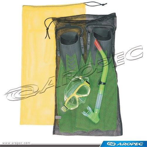 【【蘋果戶外】】AROPEC MB-01-47*74cm NY【黃】 網袋 可收納面鏡呼吸管 亞洛沛
