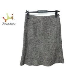 エフデ ef-de スカート サイズ7 S レディース 美品 白×黒 ラメ/ニット 新着 20190621