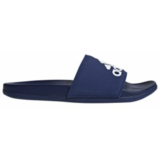 アディダス adidas メンズ サンダル シューズ・靴 Adilette Comfort Slide Dark Blue/White/Dark Blue Logo