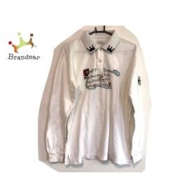 カステルバジャックスポーツ CastelbajacSport 長袖ポロシャツ サイズ4 XL メンズ 白×マルチ  値下げ 20190922