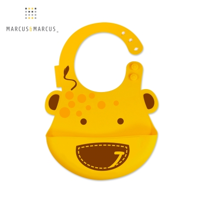 【Marcus & Marcus】 動物樂園矽膠立體圍兜(長頸鹿)