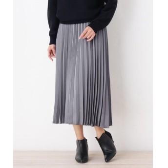SOUP / スープ 微光沢アコーディオンプリーツスカート