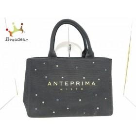 アンテプリマミスト ANTEPRIMA MISTO トートバッグ 黒×マルチ キャンバス×ラインストーン  値下げ 20190816