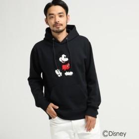 [マルイ] DISNEY ディズニー ミッキーマウス サガラ 刺繍 パーカー/ベース ステーション(メンズ)(BASE STATION Mens)