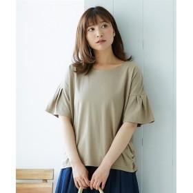 汗ジミ防止袖フレアTシャツ (Tシャツ・カットソー)(レディース)T-shirts, T恤