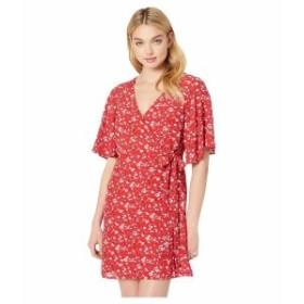 サンクチュアリー レディース ワンピース トップス Girl On Fire Faux Wrap Dress Simply Red