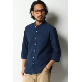 [マルイ]【セール】グレンチェックバンドカラー7分袖シャツ/イッカ メンズ(ikka)