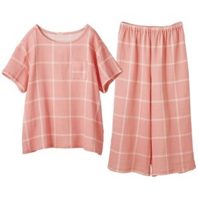 【レディース】 やみつきの軽さ!さわやかサマーガーゼかぶりパジャマ - セシール ■カラー:ピンク系 ■サイズ:5L,L,LL,M,3L