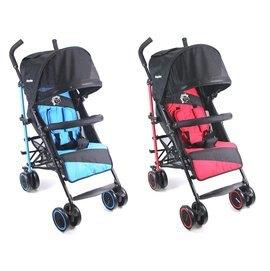 babybabe 加寬平躺傘車 藍/紅『121婦嬰用品館』