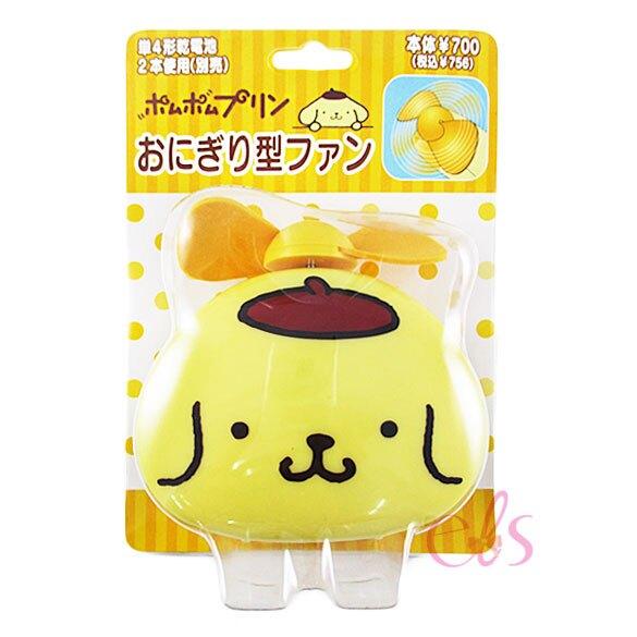布丁狗 飯糰型迷你電風扇 輕巧好攜帶 軟式葉片超安全 日本正版商品☆艾莉莎ELS☆