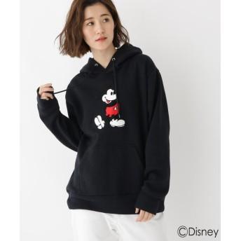 BASE CONTROL LADYS(ベース コントロール レディース) DISNEY ディズニー ミッキーマウス サガラ 刺繍 パーカー