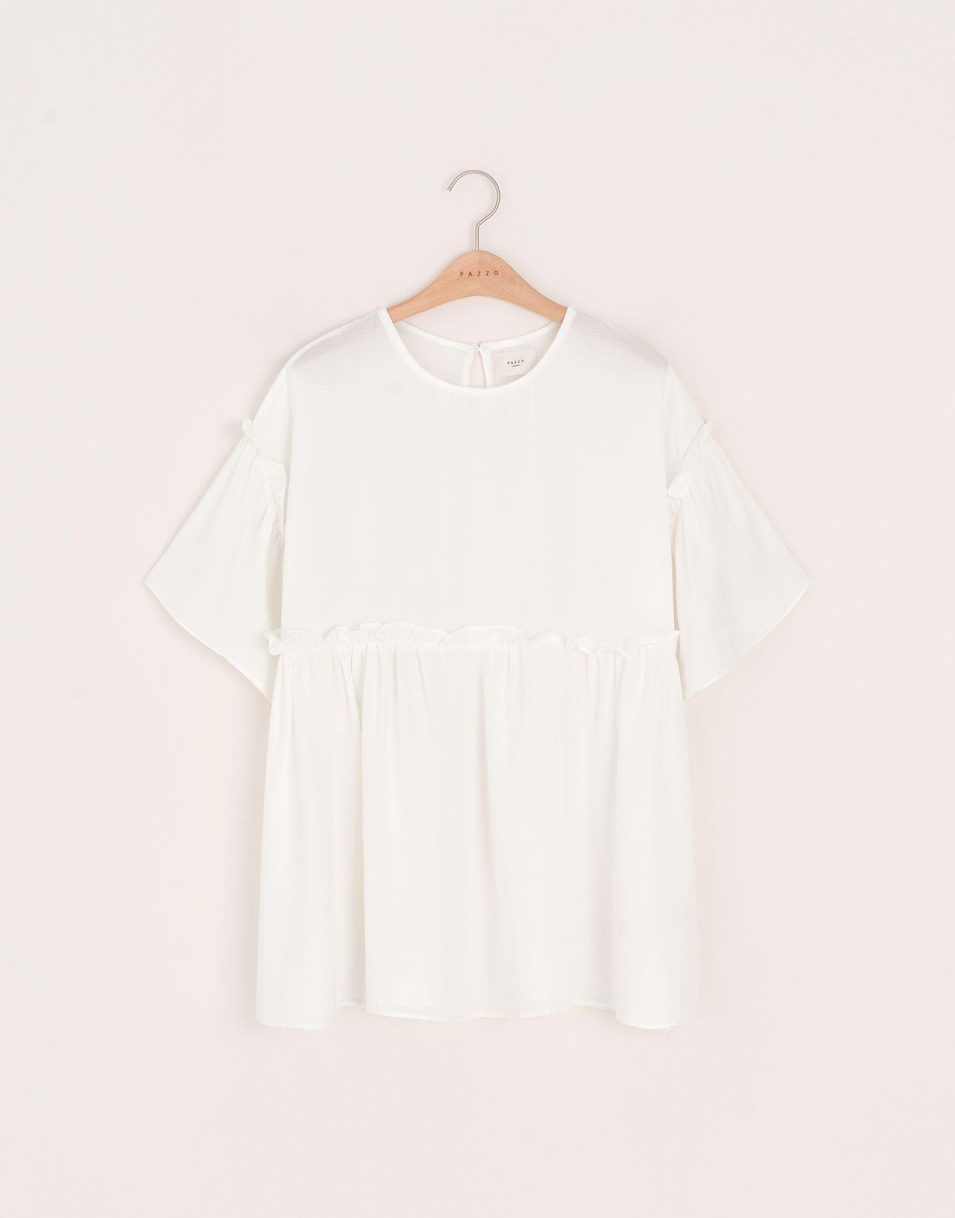 夏氛女孩澎澎短洋裝-PAZZO