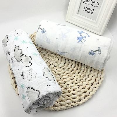 colorland【2入】竹纖維嬰兒紗布包巾