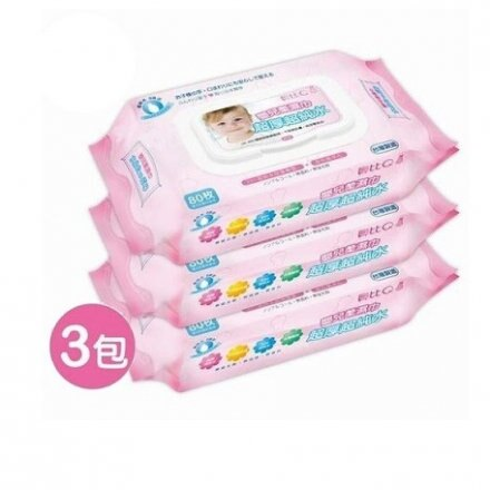 貝比Q超純水嬰兒柔濕巾 3包入 溼紙巾 濕紙巾【六甲媽咪】