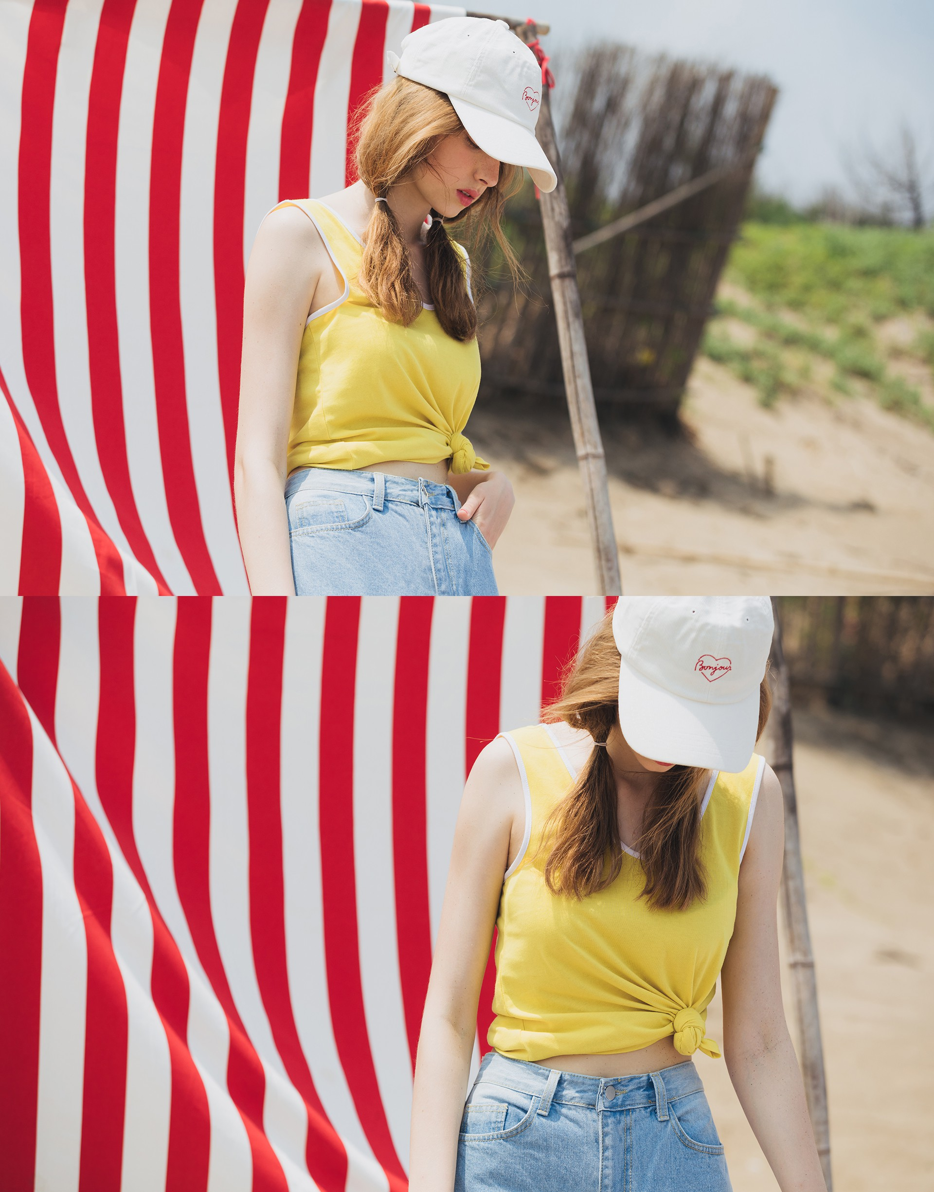 PAZZO+MIT 美式休閒撞色棉質背心