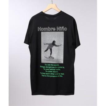 EDIFICE LIFE×Hombre Nino フロントロゴ Tシャツ ブラック S