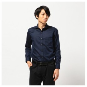 (Men's Bigi/メンズビギ)ジャガード織り小紋シャツ/メンズ ネイビー