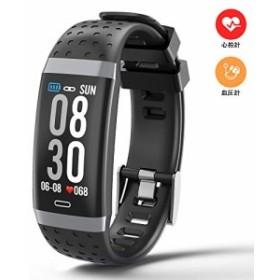 スマートウォッチ 2019最新版 血圧計 心拍計 着信電話通知 フィットネススウォッチ 歩数計 活動量計 睡眠検測 GPS スマートリストバンド