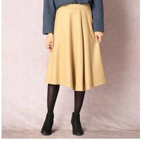 【COMME CA:スカート】ウールフランネルスカート