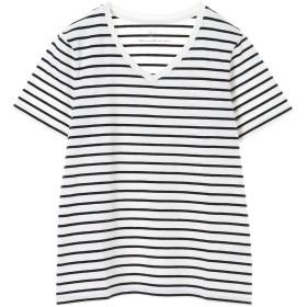 【6,000円(税込)以上のお買物で全国送料無料。】ボーダーVネックTシャツ