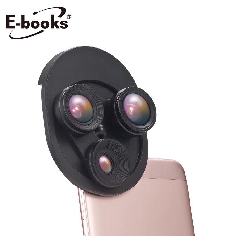 【E-books中景科技】N62 轉盤式 0.62x廣角 魚眼 20x微距 三合一特效鏡頭 手機鏡頭【JC科技】