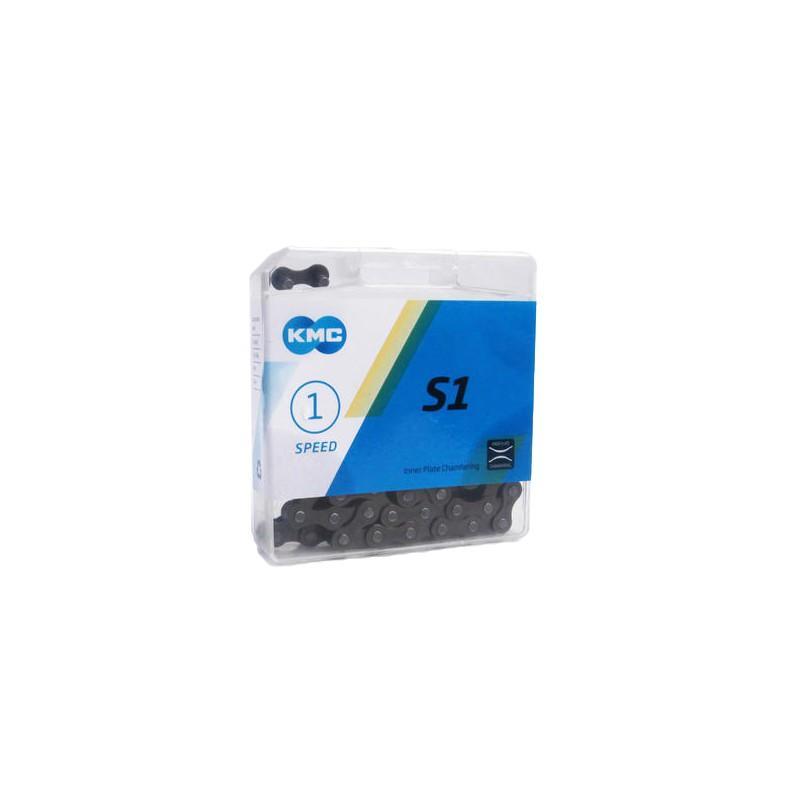 KMC S1 單速鏈條 1速鍊條 附快扣 (原廠盒裝) [03000686]【飛輪單車】