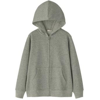 (GU)KIDS(男女兼用)スウェットフルジップパーカ(長袖) GRAY 140