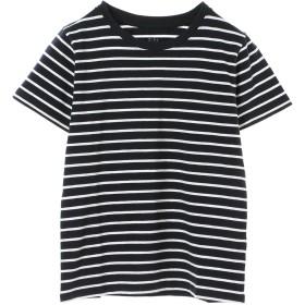 【5,000円以上お買物で送料無料】ボーダークルーネックTシャツ