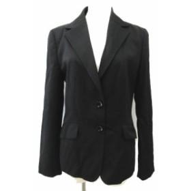 【中古】インディヴィ INDIVI スカート スーツ セットアップ テーラード ジャケット 2B サイズ40 黒 ブラック レディース