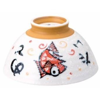 見谷陶器 めで鯛茶碗 赤