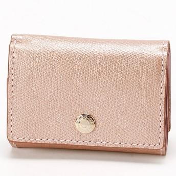 [マルイ]【セール】角シボ型押しメタリックレザー・三つ折りミニ財布/トプカピ(TOPKAPI)