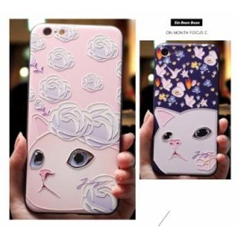 ★iPhone X/XS★全面保護 アイフォン用 軽量超薄型 カバーケース 携帯カバー スマホケース 耐衝撃 かわいいネコ Apple iPhone X XS