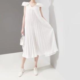 ワンピース レディース 『お得』 半袖 無地 フリル ワンピース マキシ 大きいサイズ 結婚式 黒 40代 ファッション 50代