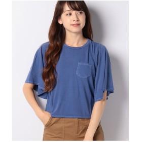 Bou Jeloud ピグメントベルスリーブTシャツ(ネイビー)【返品不可商品】
