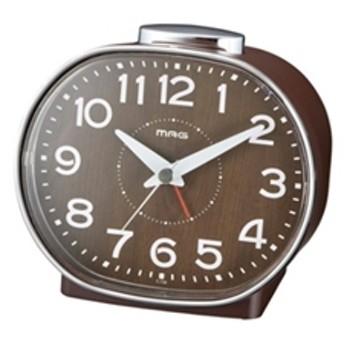 【ノア精密】 アナログ置き時計 T-739 BR-Z ベル目覚し時計