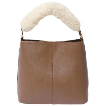 Ranan ファーハンドル2WAYバッグ ブラック フリー レディース 5,000円(税抜)以上購入で送料無料 ハンドバッグ 春 レディースファッション アパレル 通販 大きいサイズ コーデ 安い おしゃれ お洒落 20代 30代 40代 50代 女性 バッグ かばん 鞄