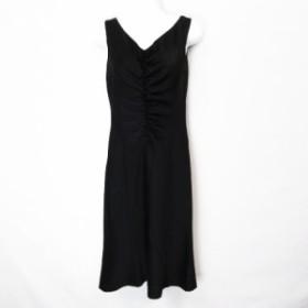 【中古】イネド INED ノースリーブ ロング ワンピース ドレス 黒ブラック 9 レディース