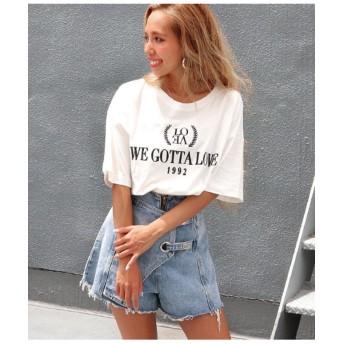 【50%OFF】 アナップ 刺繍デザインTシャツ レディース ホワイト F 【ANAP】 【タイムセール開催中】