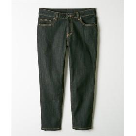 【秋まで使える新色追加♪】ヨコにすごく伸びる薄軽デニムスキニークロップドパンツ (選べる2レングス) (レディースパンツ),pants