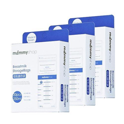 媽咪小站 mammyshop 母乳儲存袋3盒促銷組-250ml