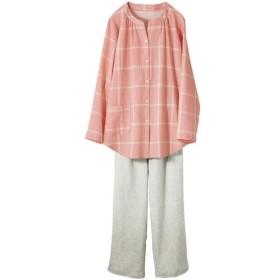 【レディース】 やみつきの軽さ!さわやかサマーガーゼパジャマ - セシール ■カラー:ピンク系 ■サイズ:3L,M,LL,5L