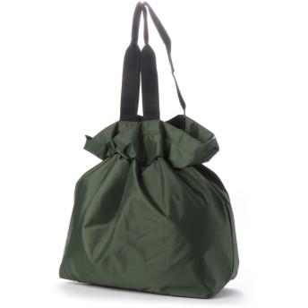 ヴィータフェリーチェ VitaFelice エコバッグ お買い物バッグ 巾着バッグ ナイロントートバッグ レジバッグ アウトドア バックカバー (GREEN)