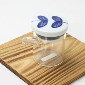 醤油さし 液だれしない aoba・小 ガラスのボディ 陶器(波佐見焼)の注ぎ口 クリアポット