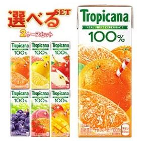 【送料無料】キリントロピカーナ100%ジュース選べる2ケースセット250ml紙パック×48(24×2)本入