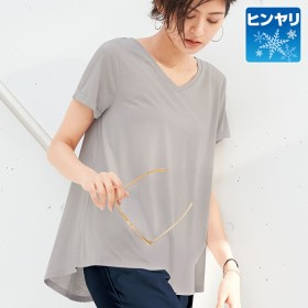 Ranan ラナン coorich シンプルVネックTシャツ