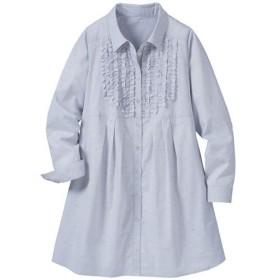 40%OFF【レディース大きいサイズ】 チュニックシャツ - セシール ■カラー:グレー系 ■サイズ:6L,L,3L,5L,LL,4L