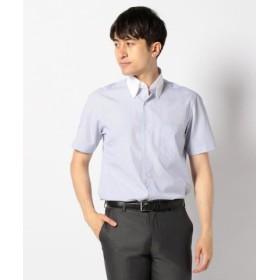 (enter G/エンタージー)【日本製】半袖クレリックシャツ/メンズ ネイビー系1 送料無料