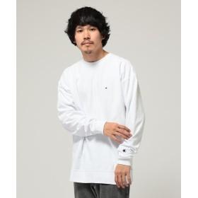 ビームス メン Champion × BEAMS / 別注 リバースウィーブ ロングスリーブ Tシャツ メンズ WHITE S 【BEAMS MEN】