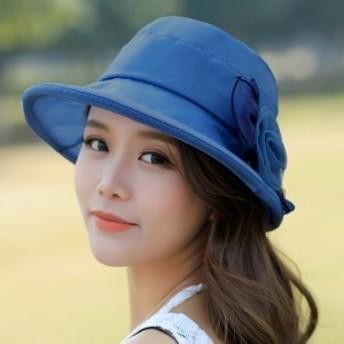 UVカット帽子 レディース つば広ハット 折りたたみ 花柄 ビーチ帽子 小顔効果 紫外線対策 ハット 日焼け 新作